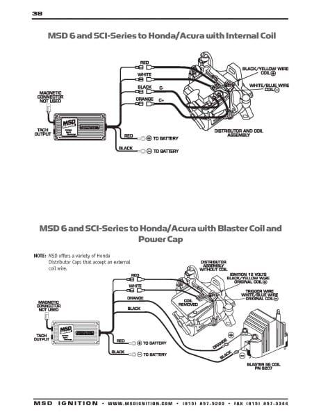 msd wiring diagram honda  wiring diagrams database put