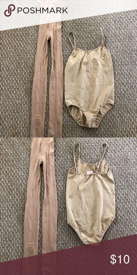 Leotard and tights Tan leotard and tights Tights size c Bloch Other