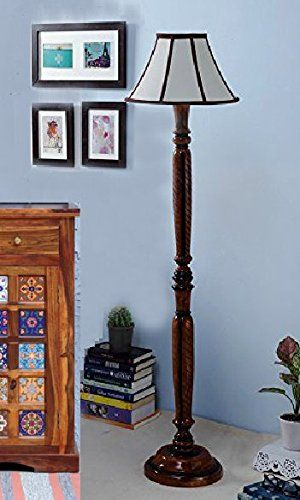 Beverly Studio 12 Inches Lamp Shade With Carving Wooden Floor Lamp In 2020 Wooden Floor Lamps Floor Lamp Lamp