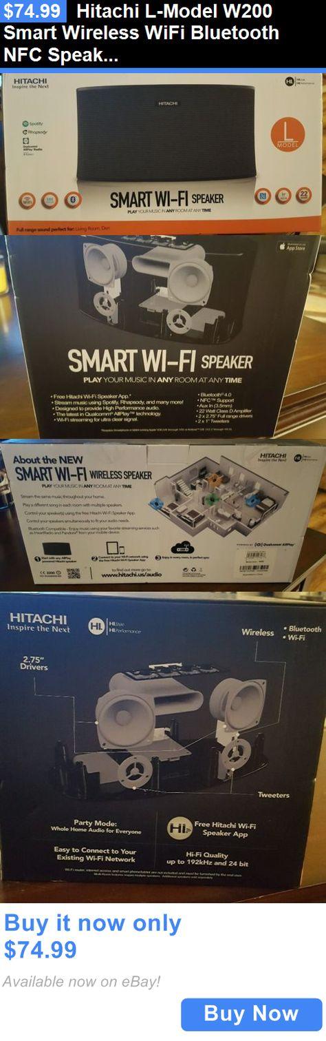 hitachi w200. home audio: hitachi l-model w200 smart wireless wifi bluetooth nfc speaker new in sealed box buy it now only: $74.99 | speakers pinterest