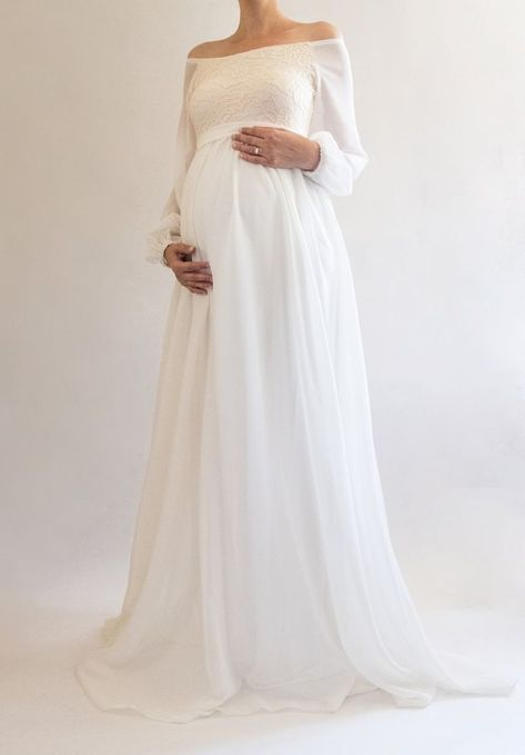 e93f541bbeab8 Formal Maternity Gown, Maternity Evening Dress, Maternity Wedding Gown,  Maternity Wedding Guest Dress - this beautiful boho lace maternity gown is  so ...