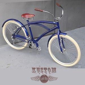 Bicicleta Beach Bike Cruiser Vermelho Cereja Rodas Aro Aero 26