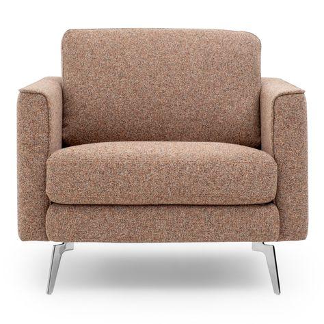 Ecaldo Living Room Orange Tissu Tissu Fauteuil Fauteuil D Appoint Et Bureau A Domicile