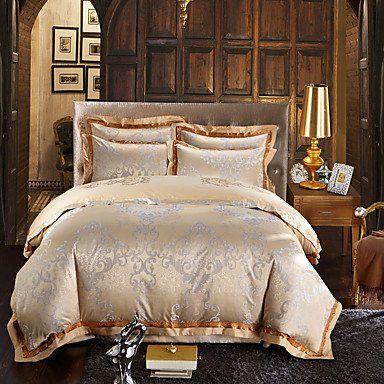 Luxury gold silk cotton blend duvet