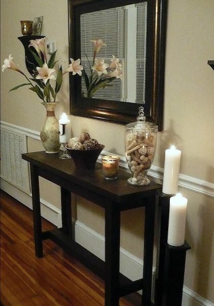 Diy Console Table Hallway Table Decor Entrance Table Decor