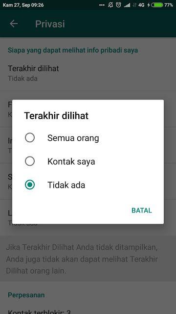 Cara Setting Agar Whatsapp Tidak Terlihat Online Dan Menghilangkan Tulisan Sedang Mengetik Tulisan Aplikasi