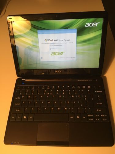 USED Acer Aspire One 11.6 inch Windows 7 Home Laptop