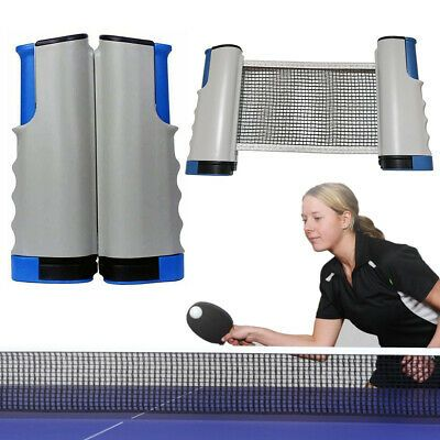 Games Retractable Table Tennis Net Ping Pong Portable Net Rack Replacement Set Ebay In 2020 Table Tennis Net Table Tennis Ping Pong