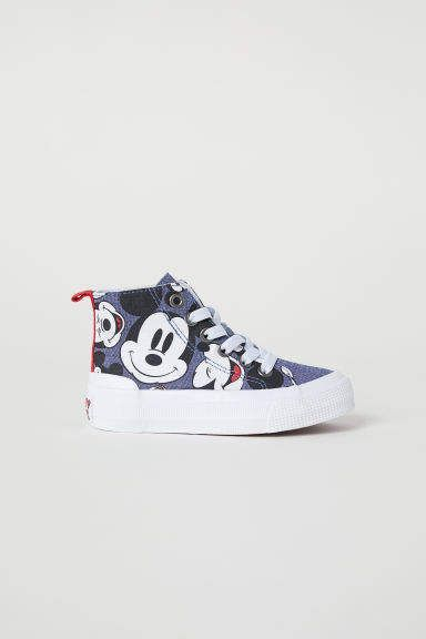 High Tops Dark Blue Mickey Mouse Kids H M Us Kid Shoes Baby Boy Shoes Kids Shoes