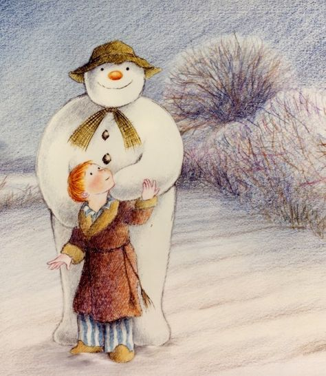 The Snowman : Raymond Briggs : 1982..altogether now...We're walking in the Air.........