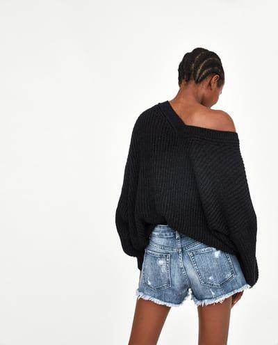 Zdjecie 4 Spodenki Jeansowe Z Niskim Stanem I Rozdarciami Z Zara Denim Shorts Zara