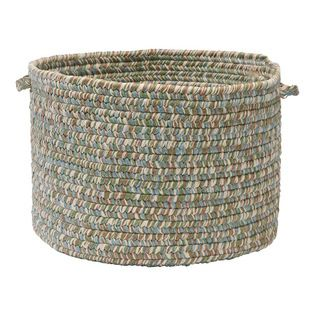 """Colonial Mills, Inc. - Corsica, Seagrass Utility Basket, 18""""X12""""  Braided flat, wool, then sewn up a spiral instead of flat for a rug... nice"""