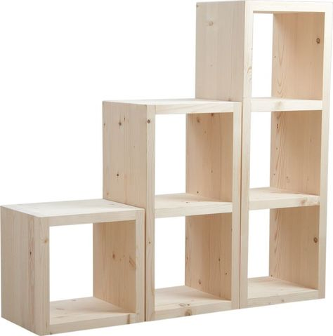 Cube De Rangement En Bois Brut 1 Cube Rangement