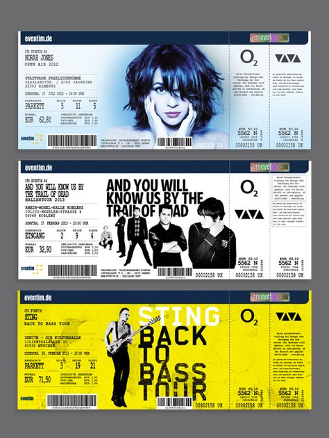 The Eventim FanTicket Design on Behance TICKETS Pinterest - concert tickets design