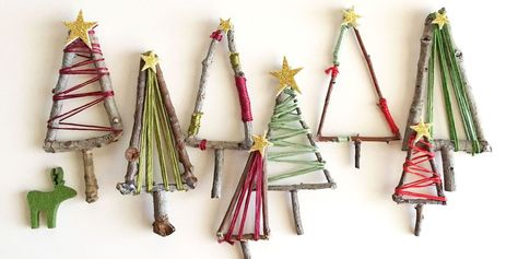 These homemade mini Christmas trees look great as extra decorations or as cute present toppers