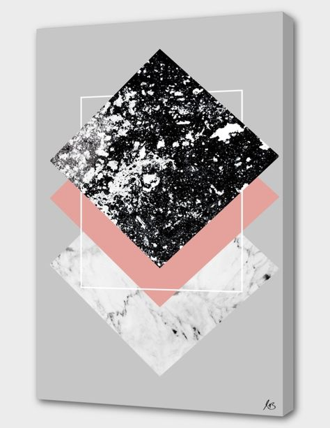 «Geometric Textures 1» Canvas Print by Mareike Böhmer - Numbered Edition from $59 | Curioos