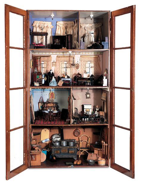 "A Late 19th Century Cabinet Doll House Known as ""The Koppel House"""