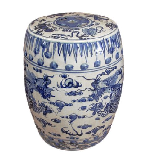 Enjoyable Oriental Furniture Garden Stool Blue University Ceramic Creativecarmelina Interior Chair Design Creativecarmelinacom