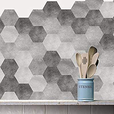 Amazon Com Vancore Floor Tiles Sticker Living Room Bedroom Bathroom Waterproof Kitchen Hexagon Mural Decal Tile Floor Self Adhesive Floor Tiles Floor Stickers