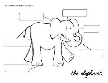 Elmer the elephant theme on pinterest elmer the for Elephant template for preschool