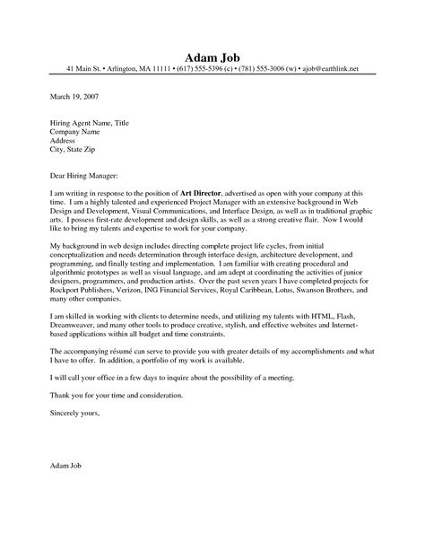 Artistic Director Cover Letter Executive Resume Template Art