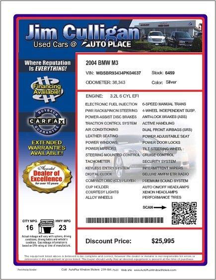 Windowsticker Us Designer For 1994 Ford Taurus Gl Vin