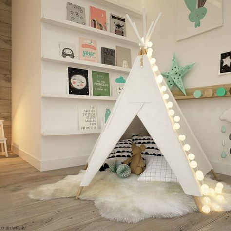 Chambre d'enfant scandinave par ELEMENTY - Pracownia Architektury Wnętrz