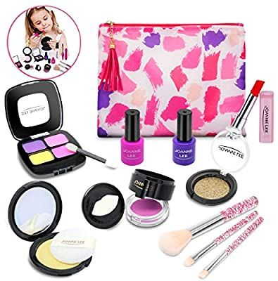 Amazon Com Pretend Play Makeup For Kids Toddlers Cosmetic Toys Kit For Little Girls Non Toxic Makeup Play Kit For In 2020 Makeup Kit For Kids Kids Makeup Play Makeup