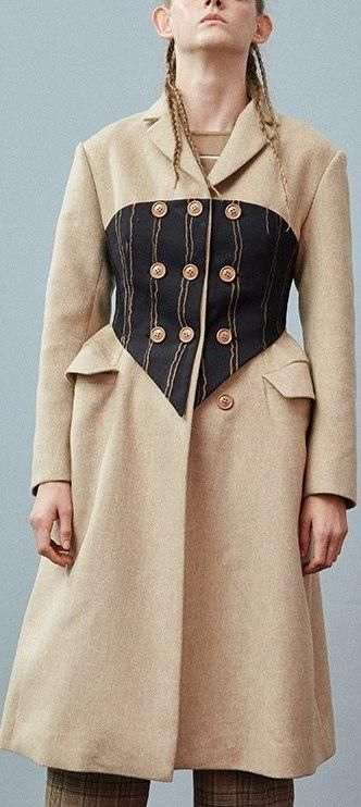 4ad86e2d0477e Triple-Breasted Corset Coat