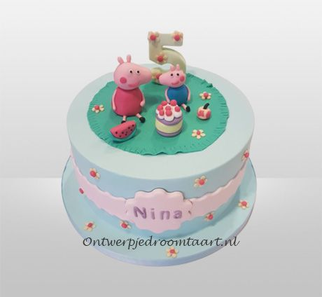 Peppa Pig Taart Kindertaarten Droomtaart Taart