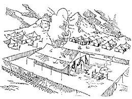 Israelites Built The Tabernacle Coloring Page Google Search The Tabernacle Tabernacle Coloring Pages