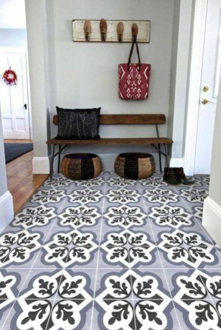 Adorable Small Entryway Makeover Decor Ideas 10 Tile Decals