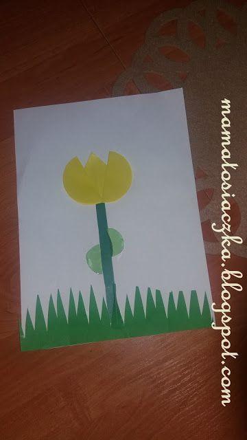 Mama Tosiaczka Tulipan Z Papierowych Kolek Home Decor Decals Decor Home Decor