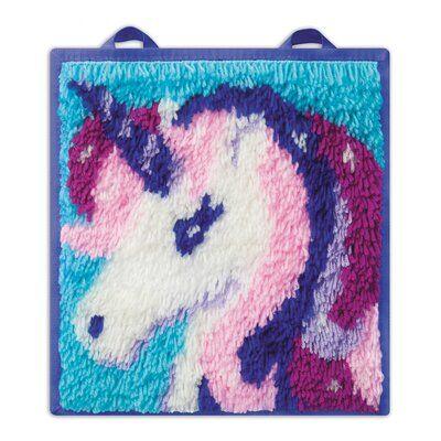 LatchKits Mini-Rug Sewing Kit The Classic Latch Hook Craft Kit Unicorn