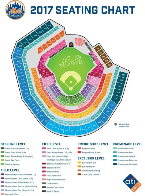 Reds Stadium Seating Chart : stadium, seating, chart, Amazing, Along, Stunning, Seating, Chart, Charts,, Mets,