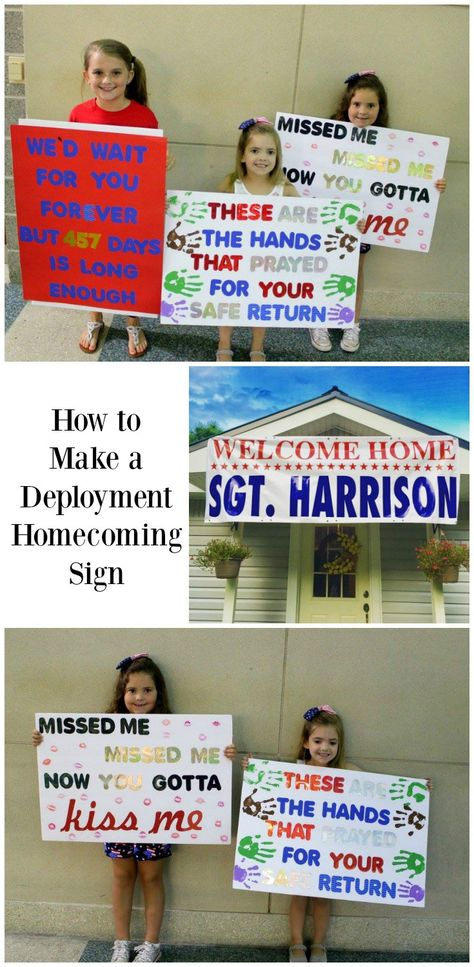 how to make a deployment homecoming sign on the blog pinterest