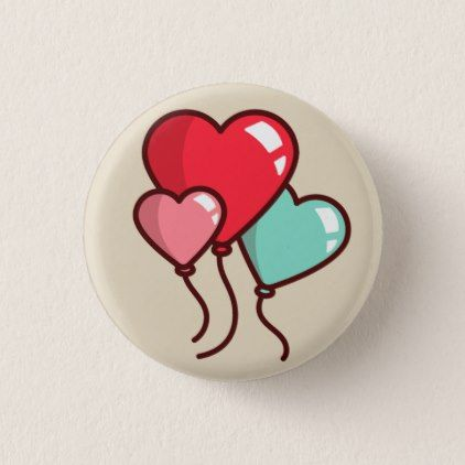 Heart Balloons Pinback Button - valentines day gifts love couple diy personalize for her for him girlfriend boyfriend Rock Painting Patterns, Rock Painting Ideas Easy, Rock Painting Designs, Paint Designs, Easy Flower Drawings, Easy Disney Drawings, Pencil Drawings Of Flowers, Heart Painting, Pebble Painting