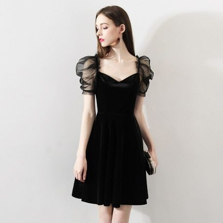 Buy Dinner Black Little Evening Dress Skirt Female Dress Ladies Party Party Dress Short Te Party Dresses Online Sleeves Designs For Dresses Black Party Dresses