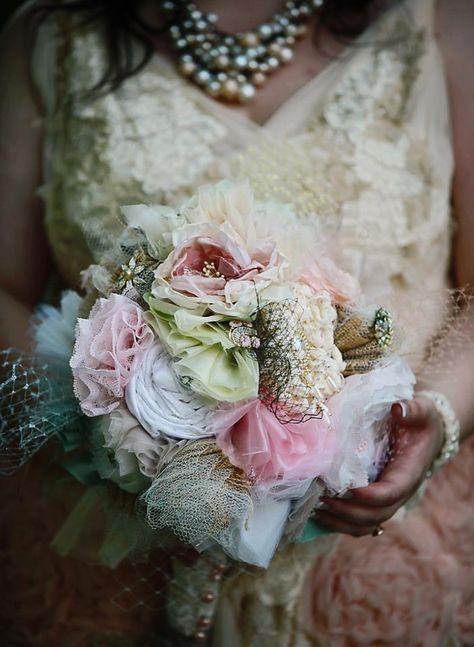 Fabric Flower Bouquet by Sheena   Flower Making Tutorials
