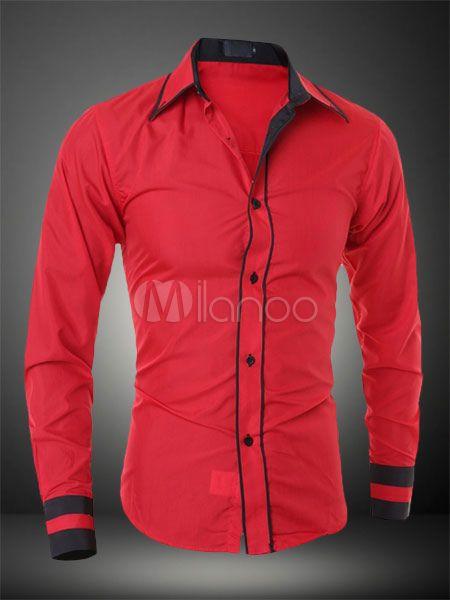 Camiseta De Hombre Negra 2019 Cuello Vuelto Manga Larga Milanoo Com Camisas Hombre Vestir Camisa Vaquera Hombre Camisas
