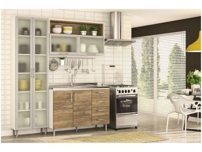 Cozinha Completa Politorno Floripa Com Balcao 6 Portas 4 Gavetas