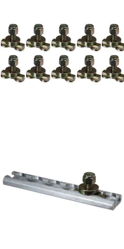 L-Track Double Lug Threaded Stud Fitting 10 Pack