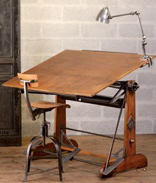 Vintage Drafting Table. #LaBoutiqueVintage