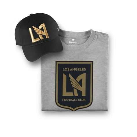 huge discount 0cdc1 71c3f Men s LAFC Fanatics Branded Black Gray T-Shirt   Adjustable Hat Combo Set,  Sale   29.99 - You Save   10.00