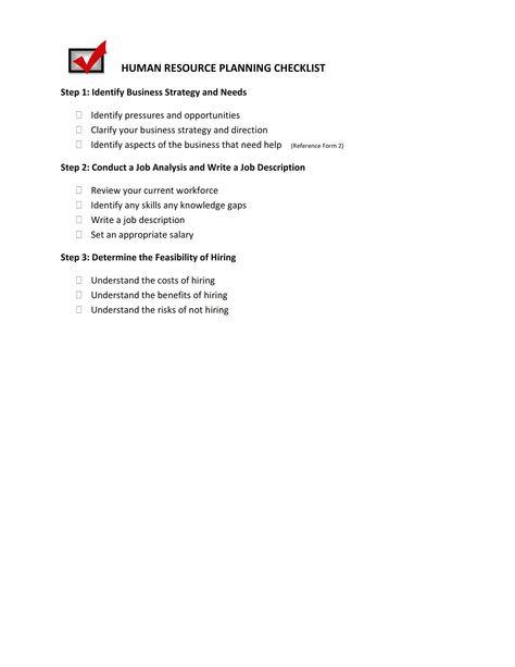 Form 4-Recruitment Strategies Evaluation Human Resource - human resource management job description