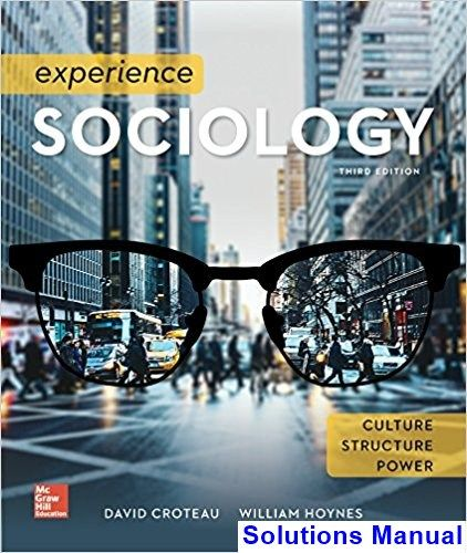experience sociology 3rd edition test bank