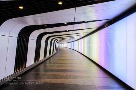 light tunnel - Pinned by Mak Khalaf Abstract architecturelightlight tunnelstreetstreet photographyukurban by EricMorilloSzok