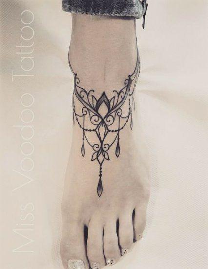 Tattoo Mandala Cadera 51 Ideas Ankle Bracelet Tattoo Tattoo Designs Foot Tattoos
