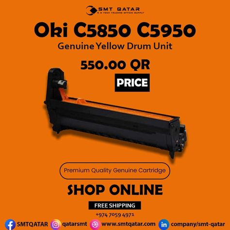 OKI C5850 C5950 Drum Unit with free shipping all over Qatar.
