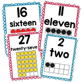 Math Ten Frame Posters 0 30 Red And Blue Ccss Poster Frame Ten Frame Visualize Numbers